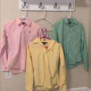 Ralph Lauren Dress Shirts (3 shirt bundle)